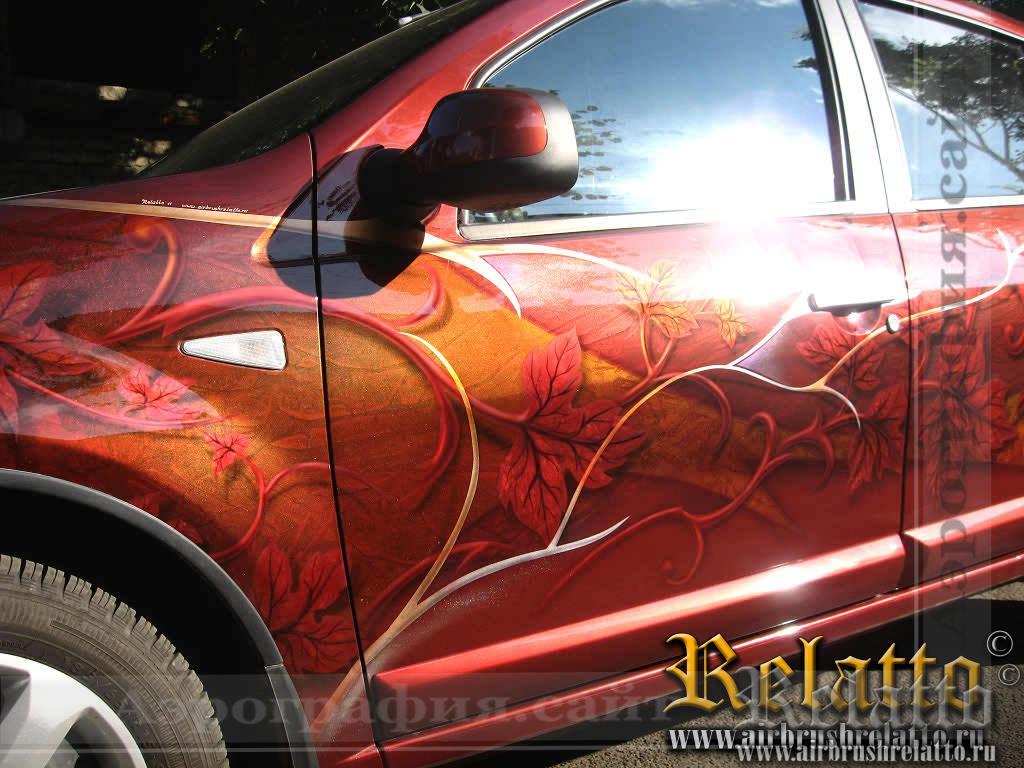 Рисунок на автомобиле