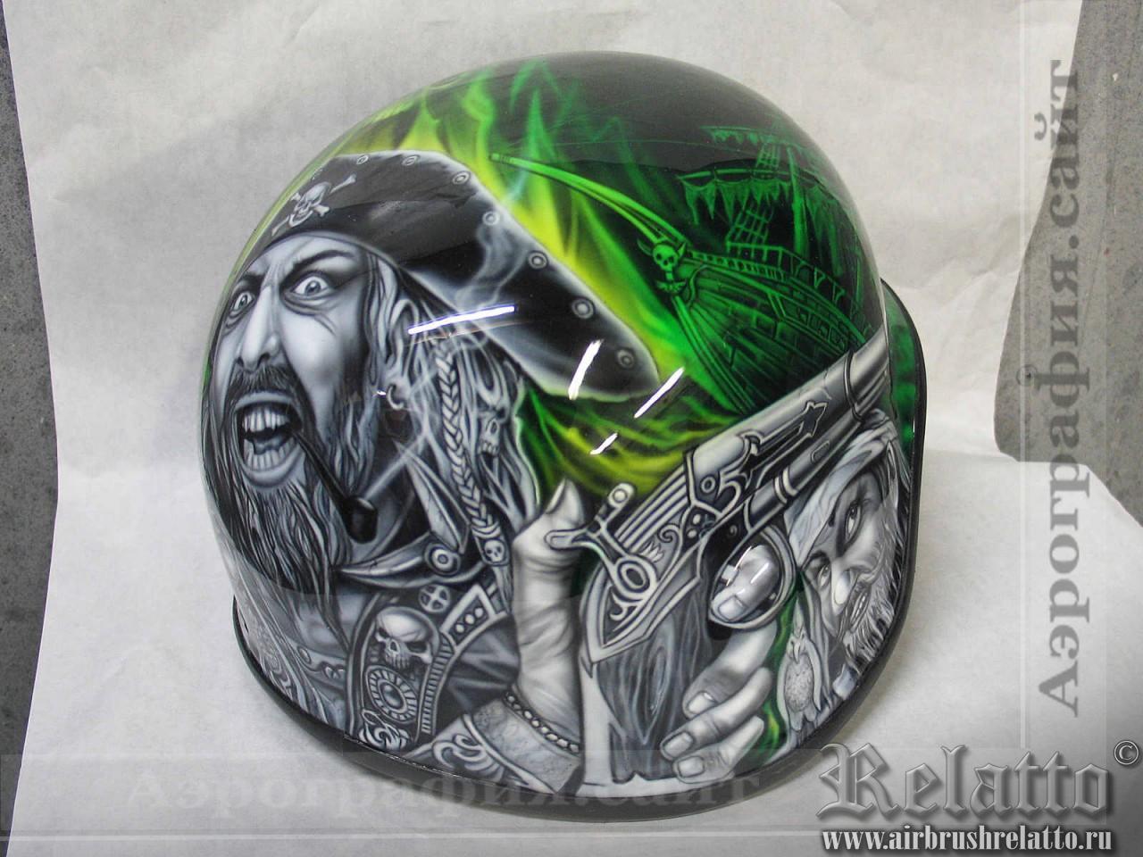 аэрография на шлем Белгород