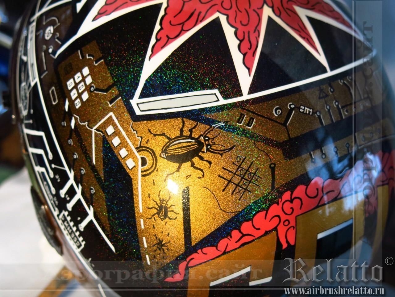 аэрография на шлеме Harley