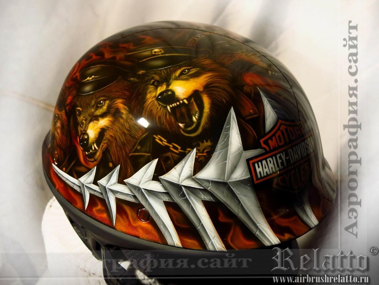 Рисунок на шлеме Bell