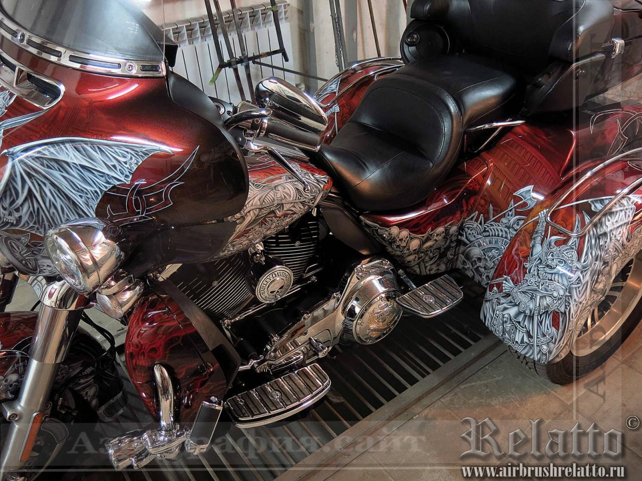 аэрография мото Harley-Davidson Tri Glide Ultra Classic Белгород