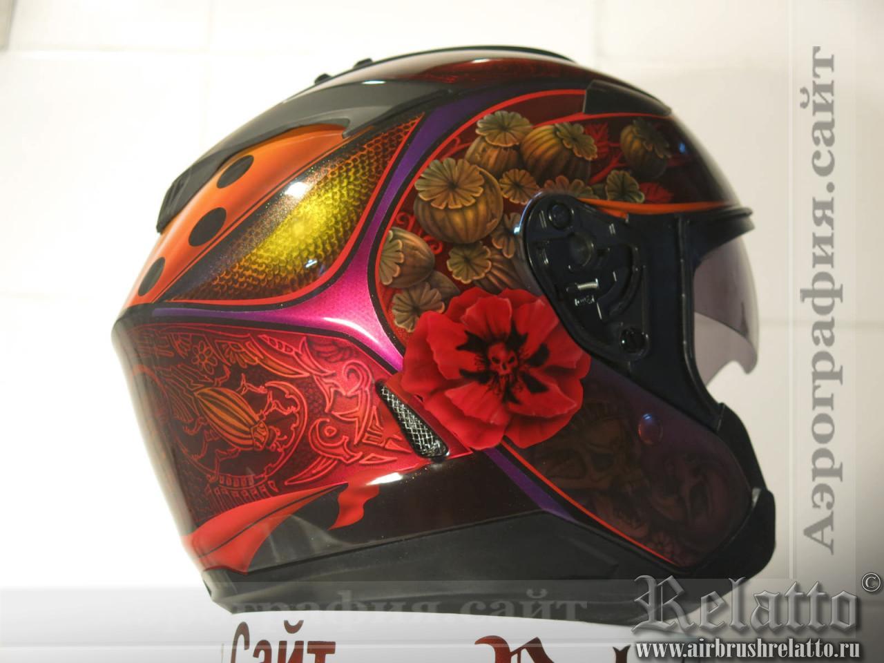 аэрография на шлема в Краснодаре
