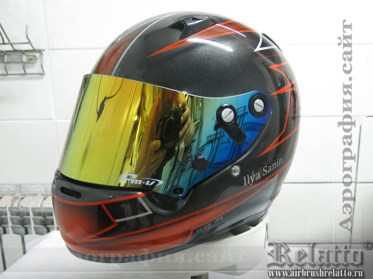 шлем для картинга с аэрографией в Белгороде