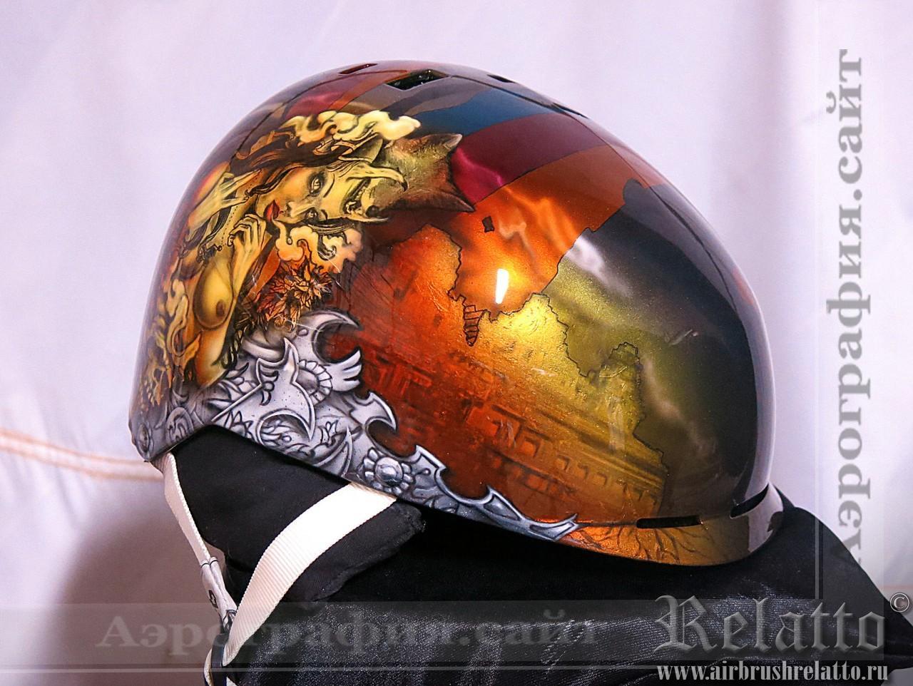 Аэрография шлема сноуборд