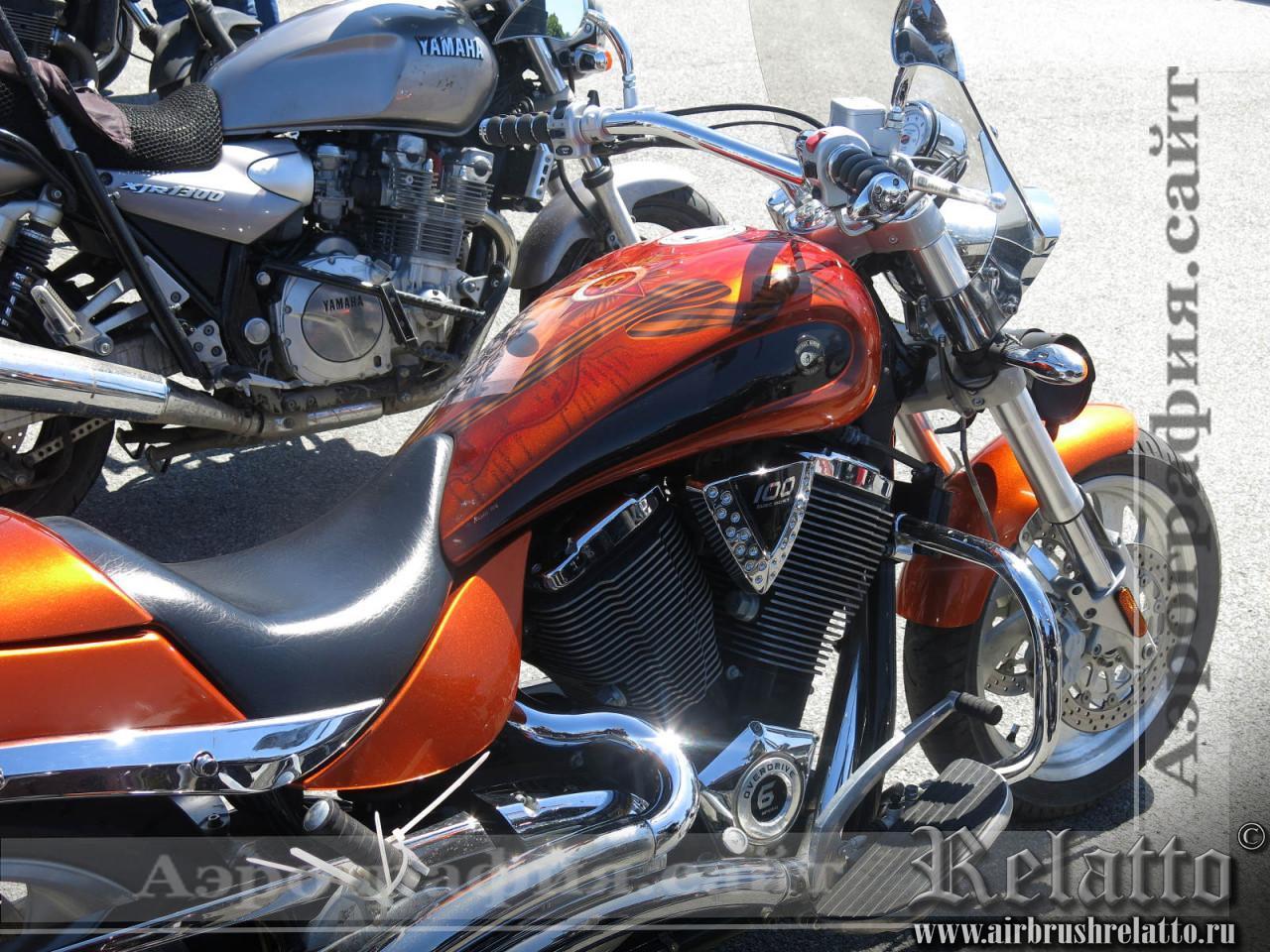 Аэрография мотоцикла