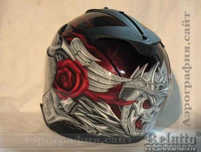 аэрография шлема Harley Davidson Краснодар