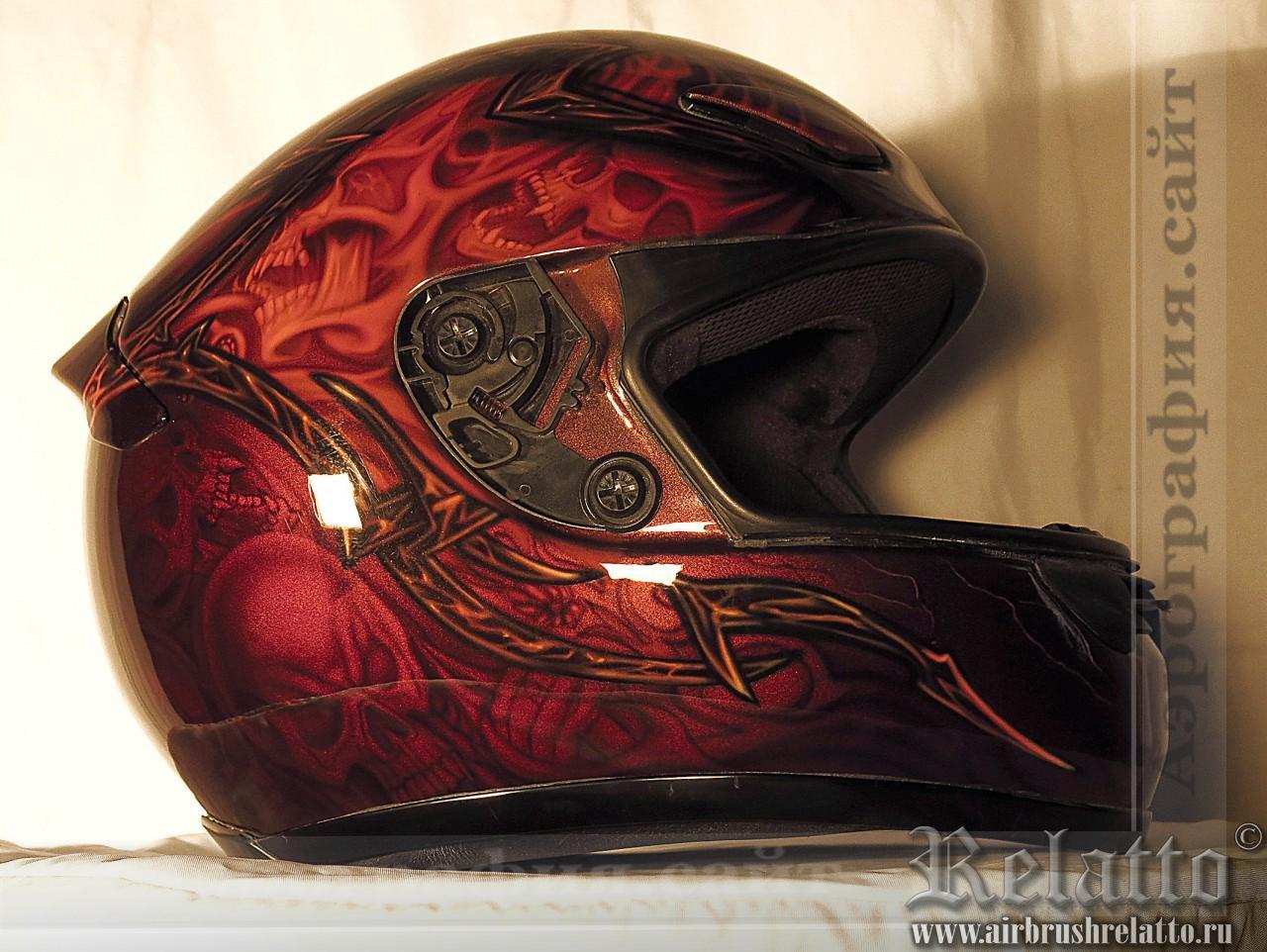 Аэрография шлема