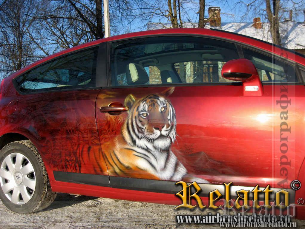 Аэрография Citroen тигры