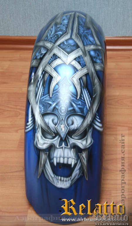 Переднее крыло Yamaha Roalstar черепа