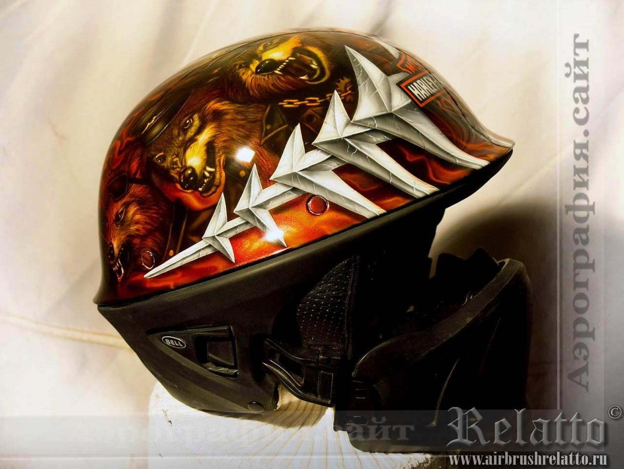 Аэрография мото шлема Bell