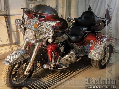 раскраска Harley-Davidson Tri Glide Ultra Classic Relatto