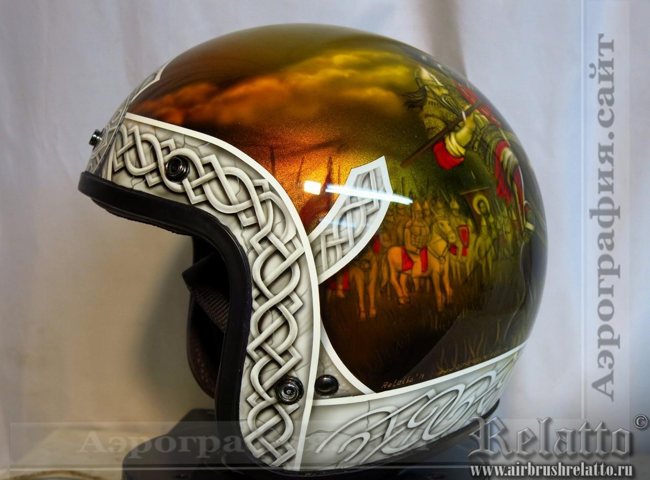 Аэрография сustom шлема - Богатыри