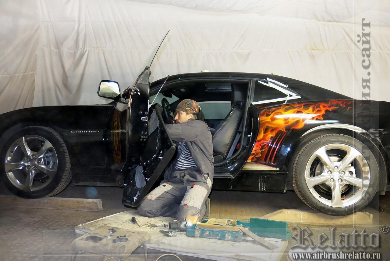 разрисовка автомобиля Camaro