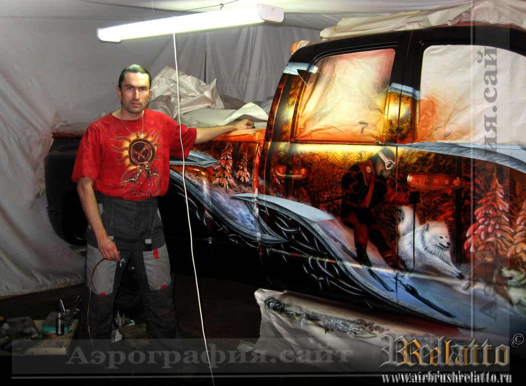 аэрография Dodge Ram Воронеж