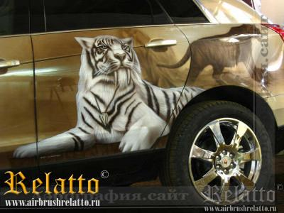 аэрография на автомобиле Relatto
