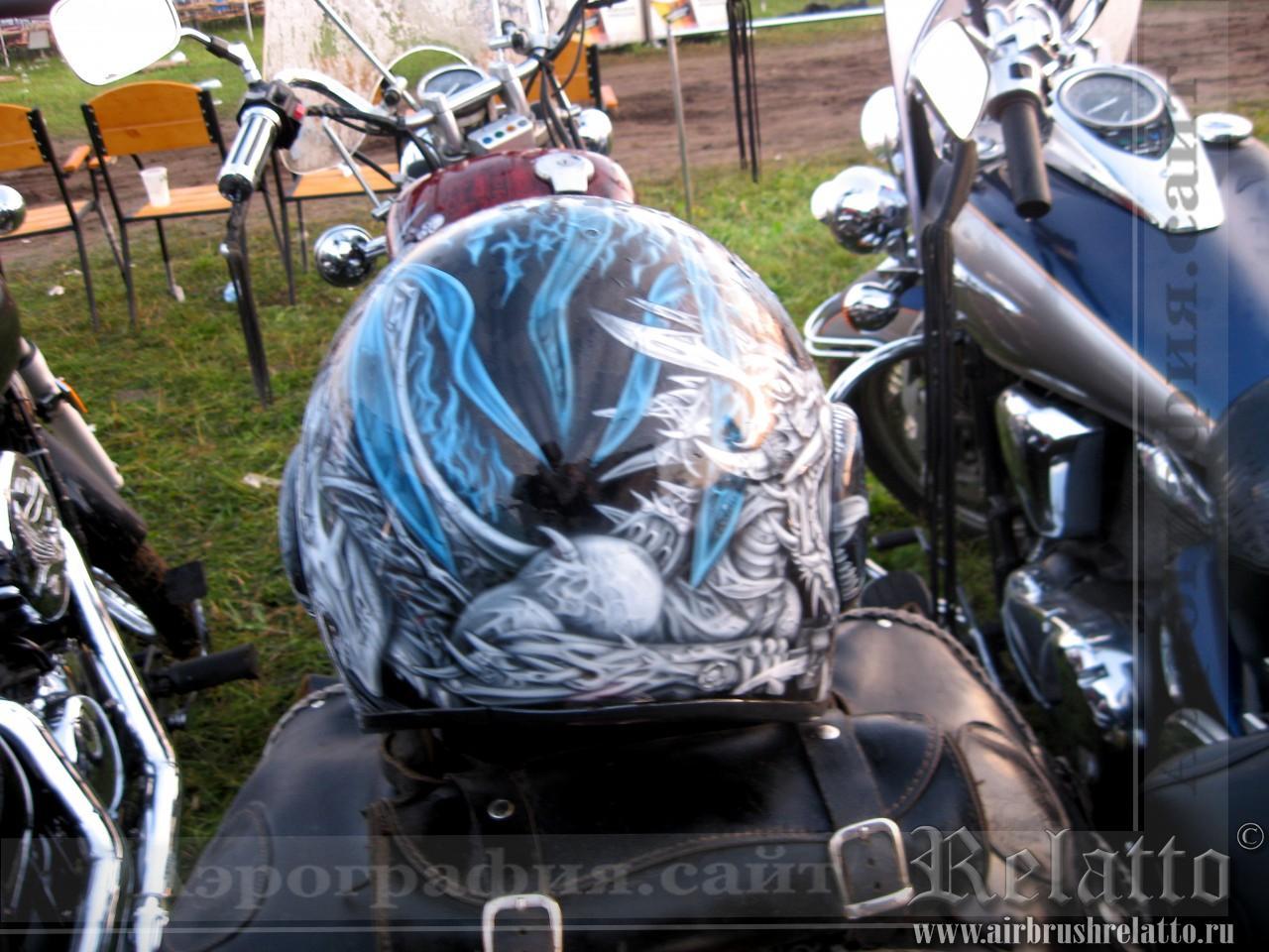 Аэрография шлемов