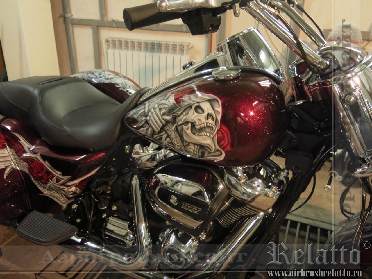 Аэрография мото Trike Harley