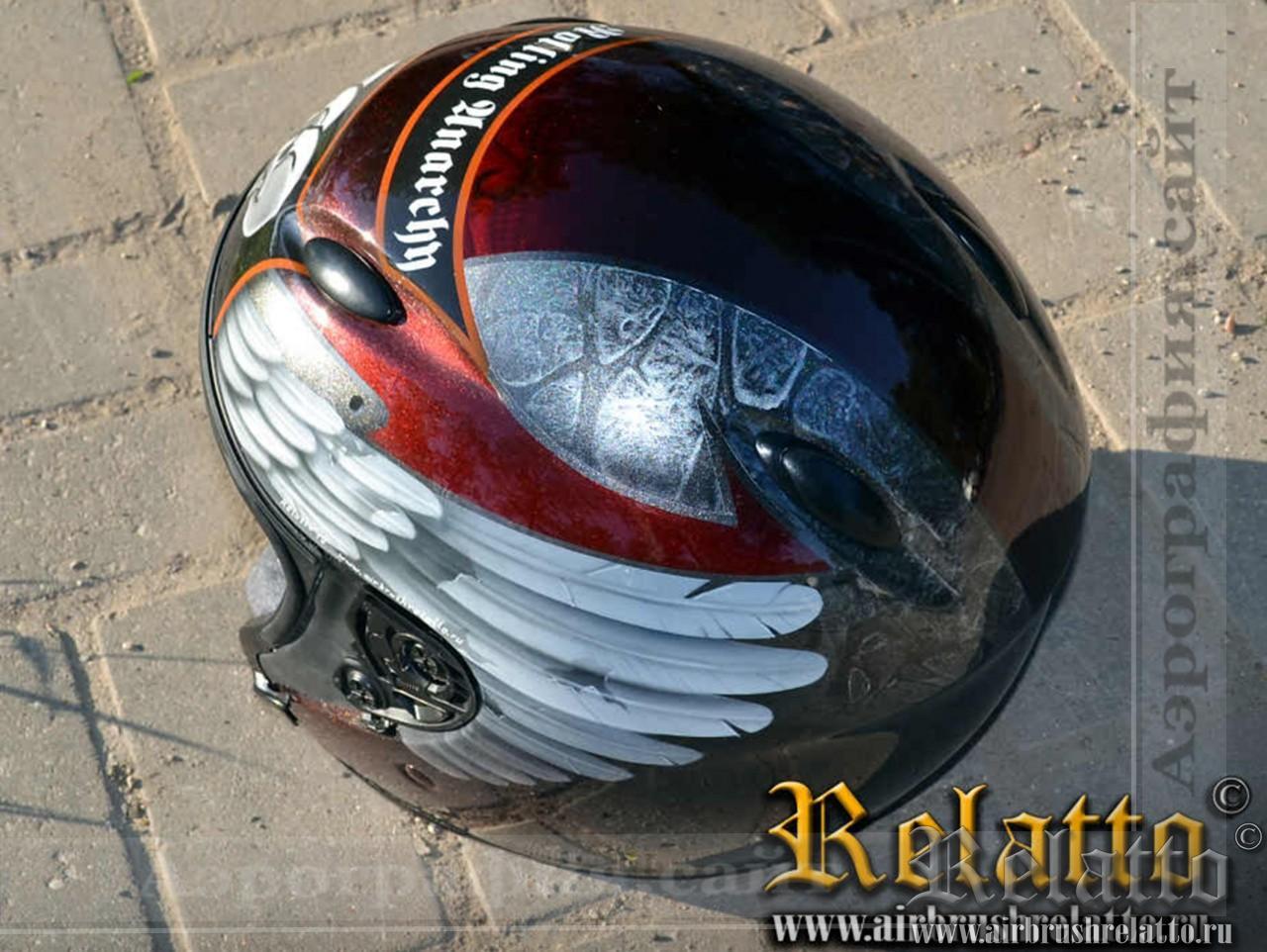 Рисунок на мото шлем Rolling Anarchy