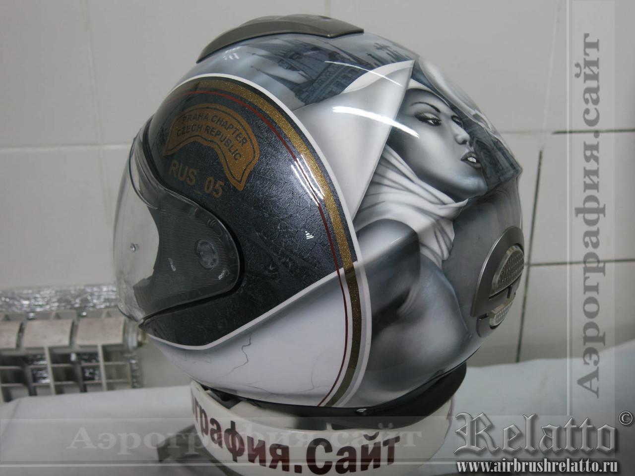 аэрография шлема монахиня