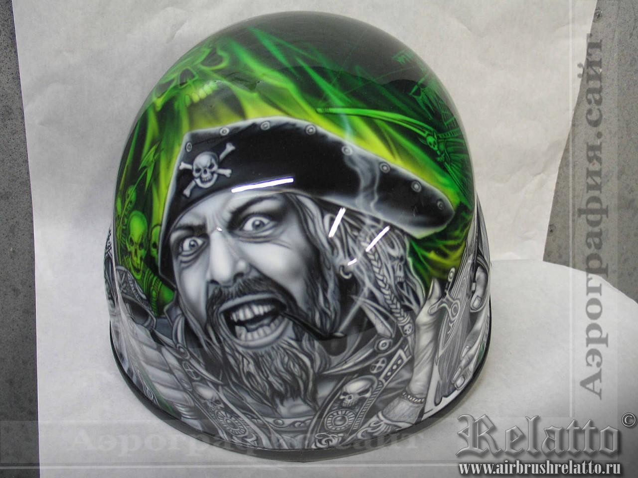 рисунок на шлем аэрография