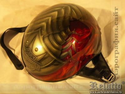 аэрография на шлем