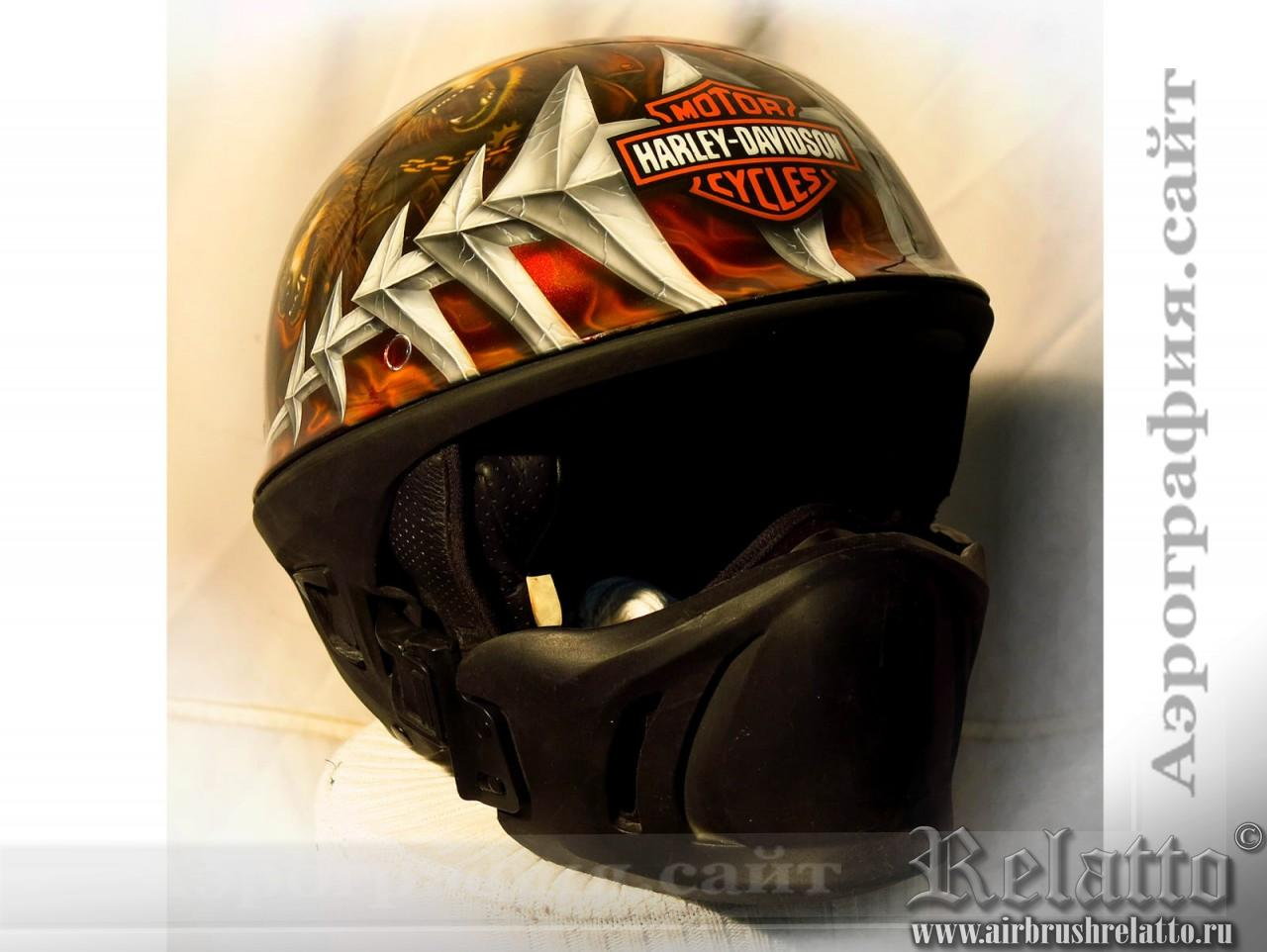Аэрография на  шлеме Bell