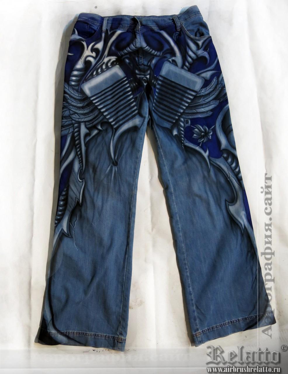 Аэрография на джинсах
