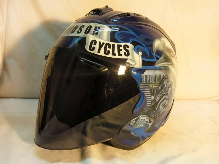 Аэрография шлема Arai Harley Davidson
