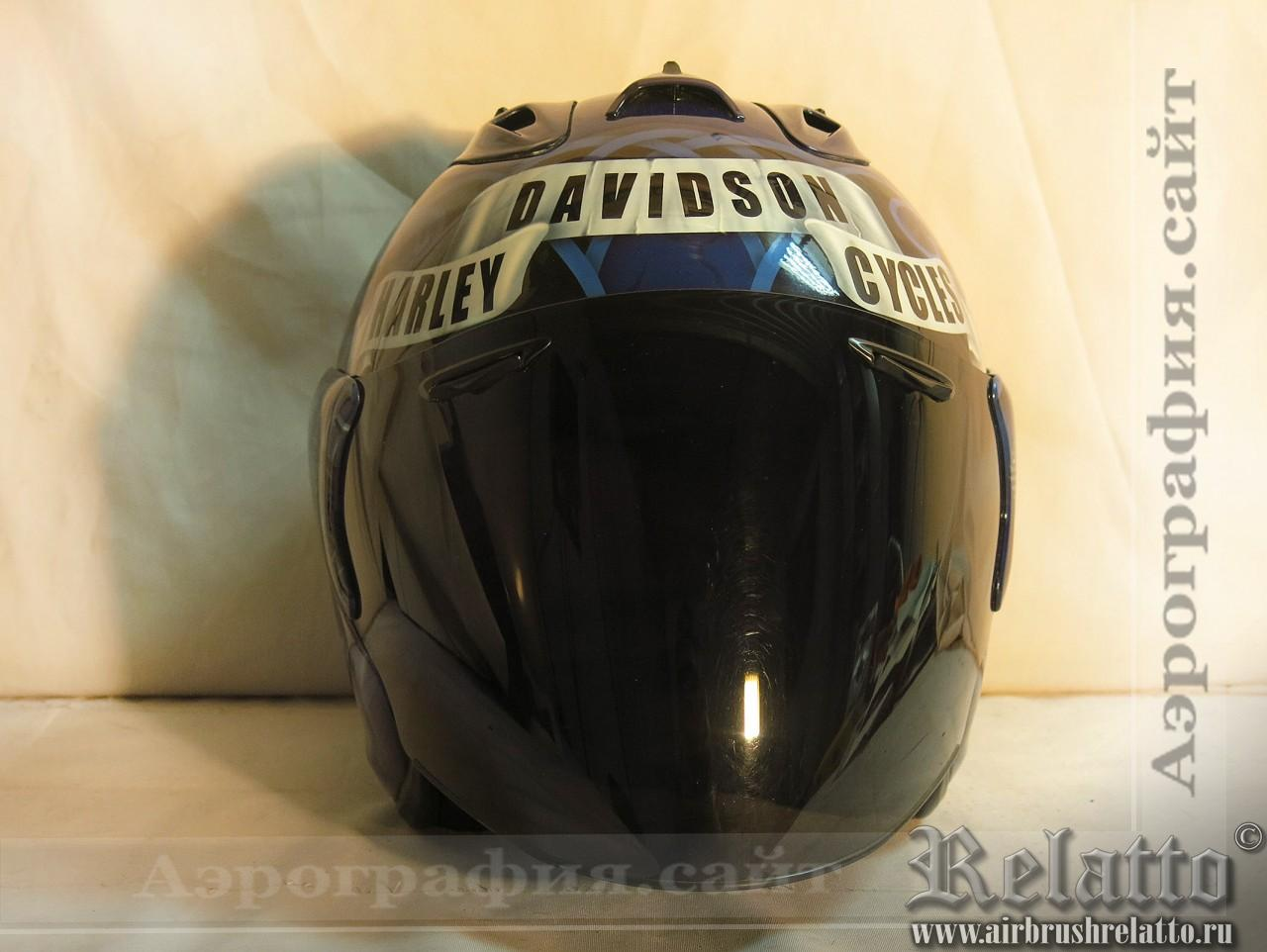 Аэрография шлема  Harley