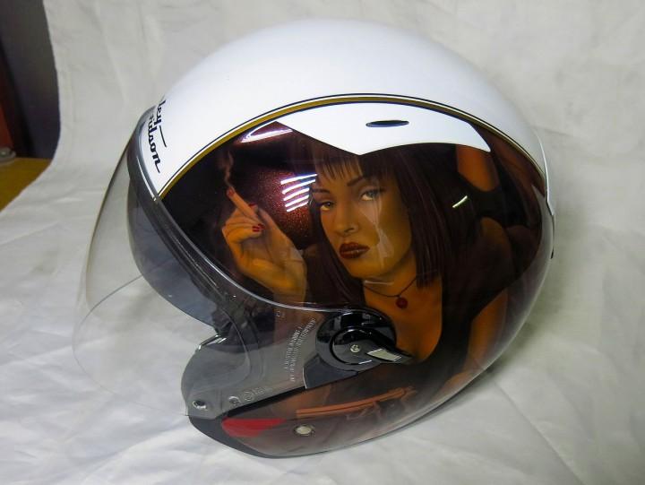 аэрография шлема Harley фото