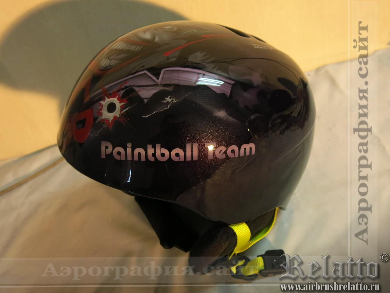 аэрография на сноуборд шлем