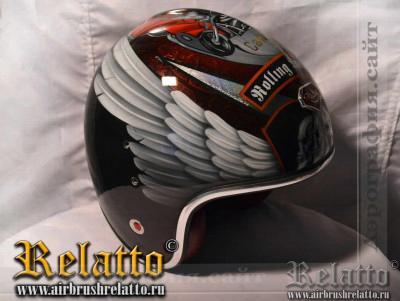 Аэрография на шлеме Роллинг Анархии Relatto