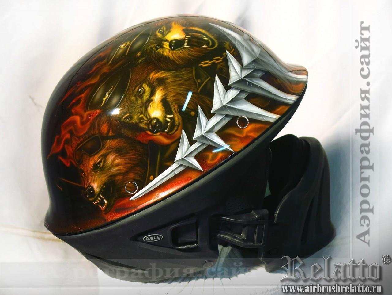 Роспись шлема Bell