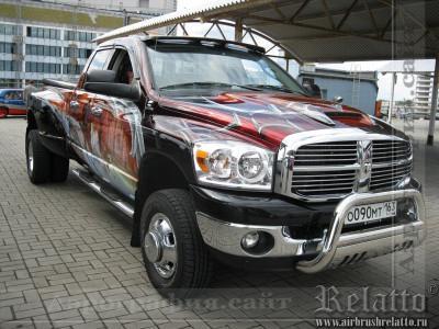 аэрография Dodge Ram 3500 airbrush Краснодар