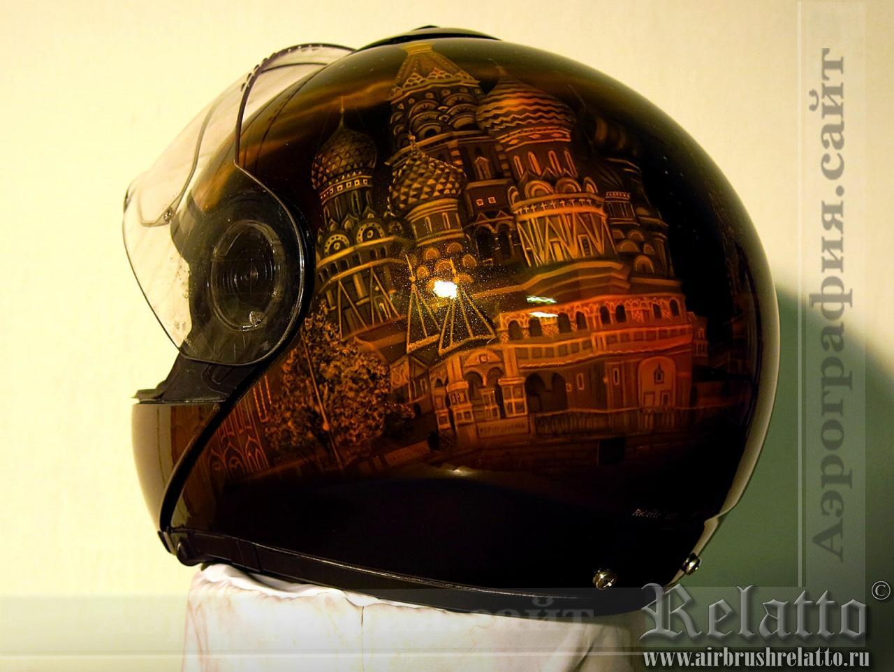 Собор Василия Блаженного рисунок на шлеме