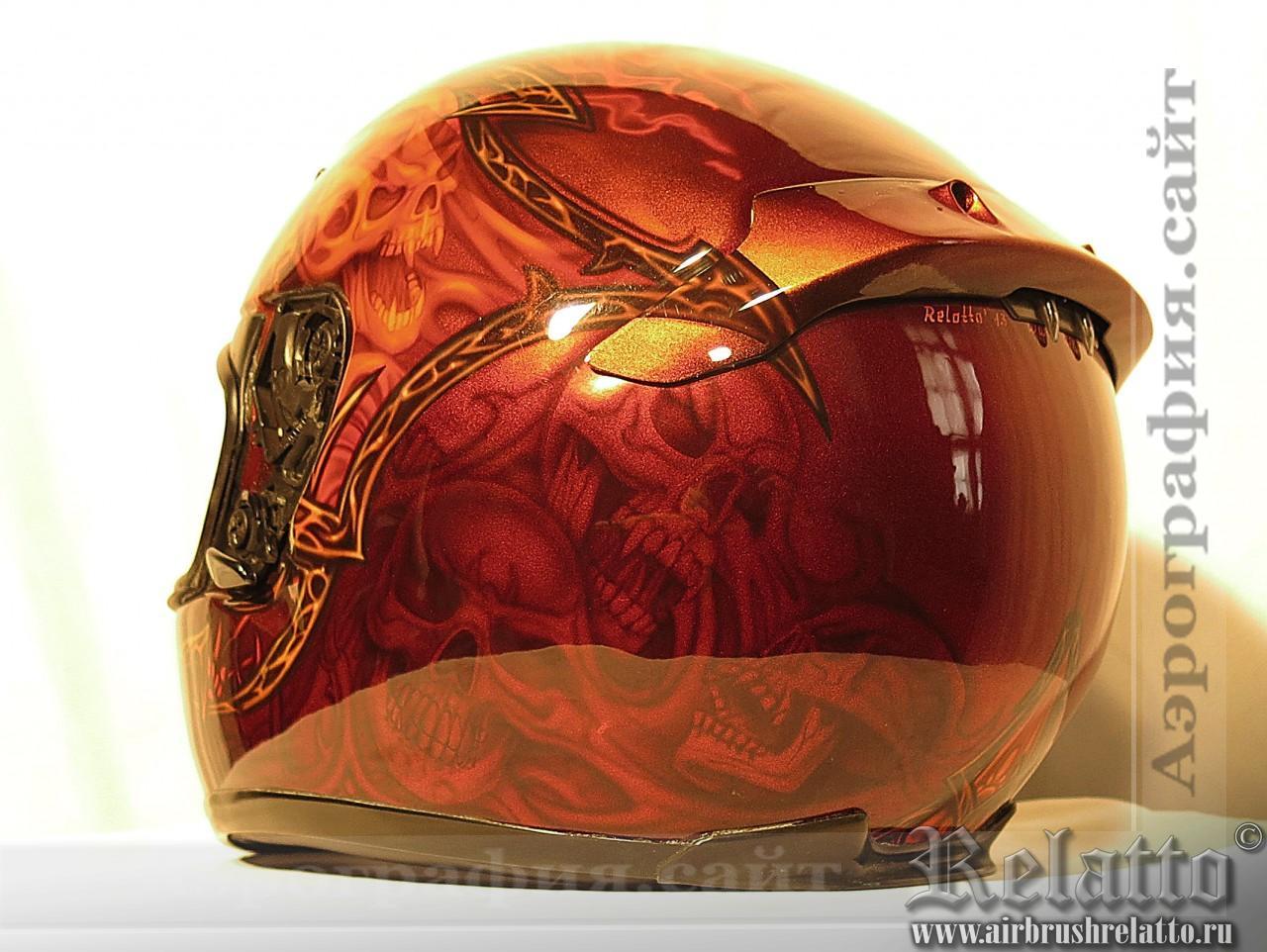 Аэрография шлема Shoel