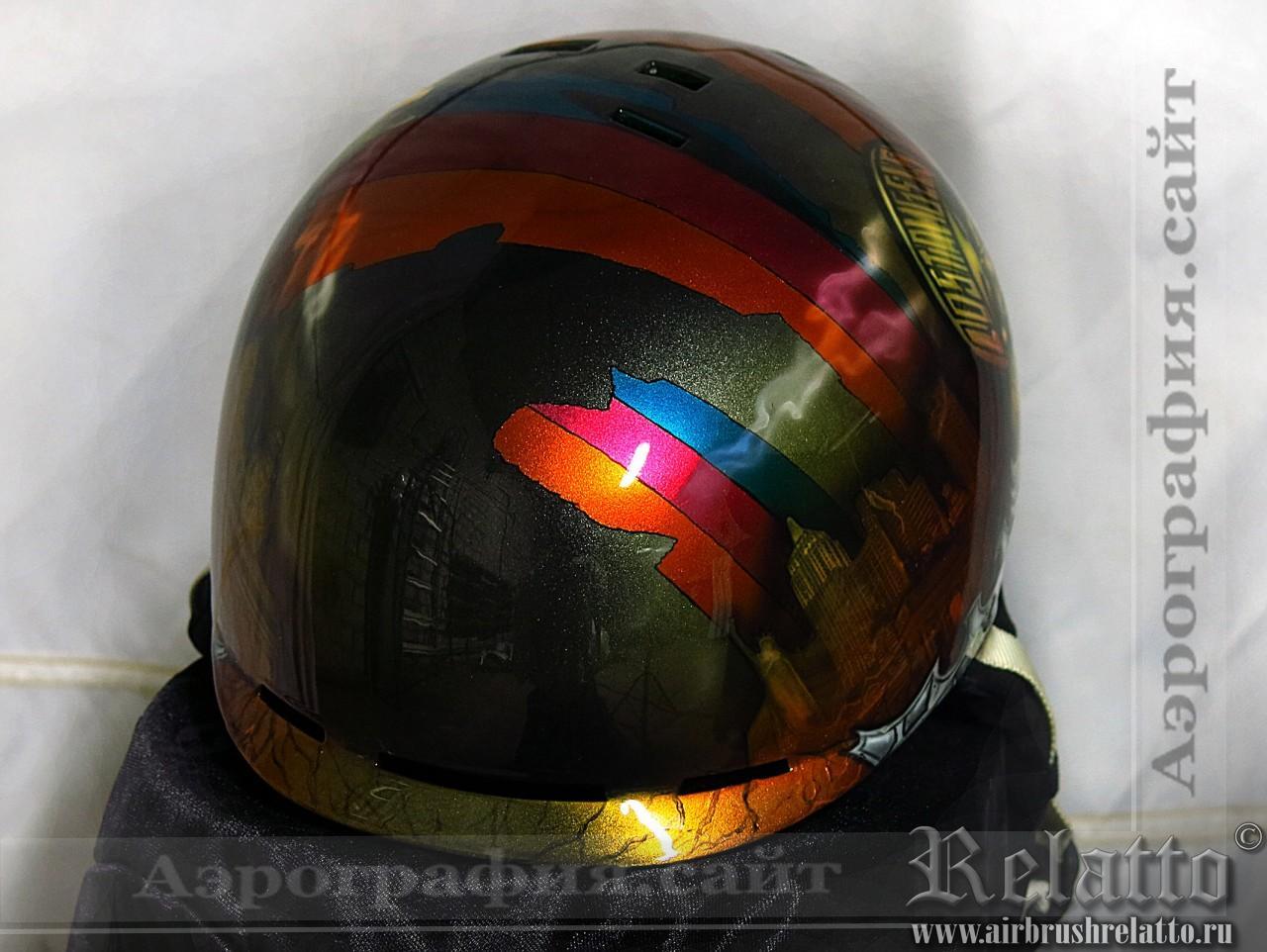 Аэрография шлема сноубордиста