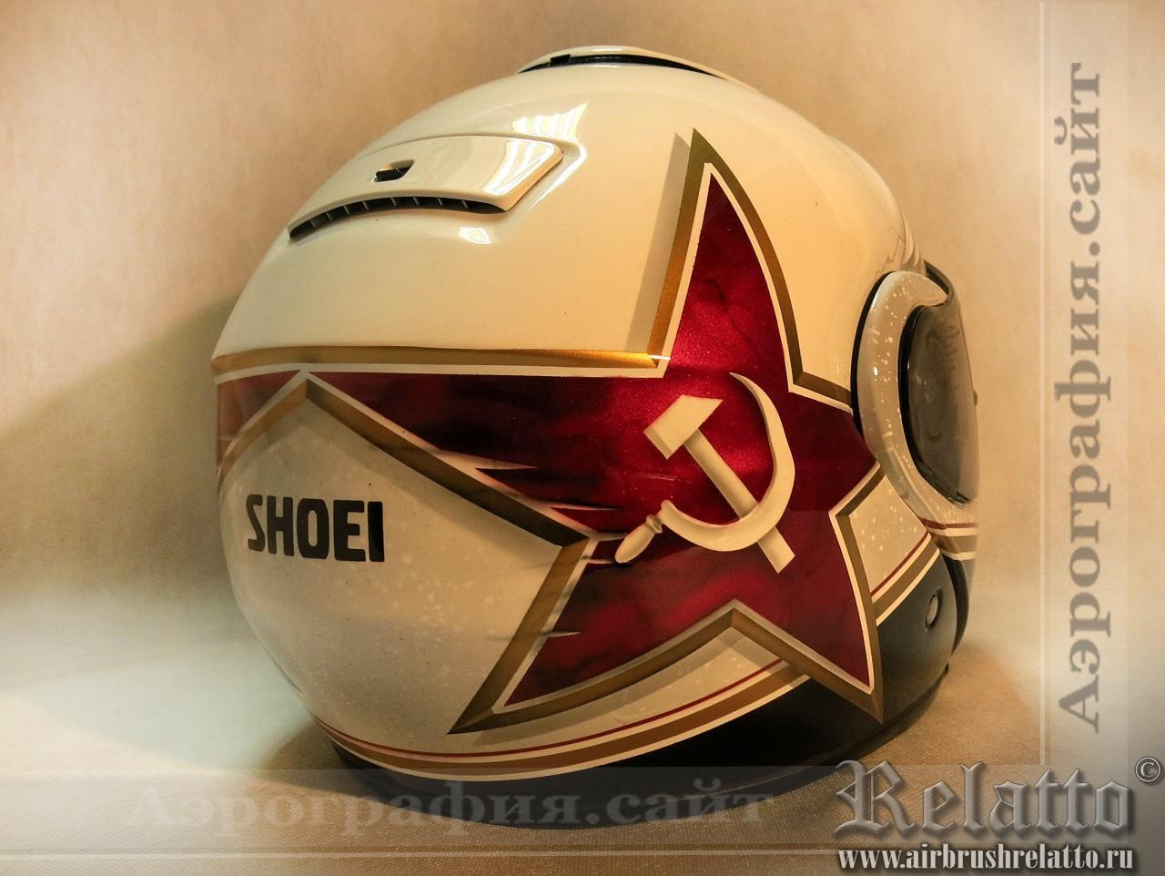 рисунок на шлеме shoel