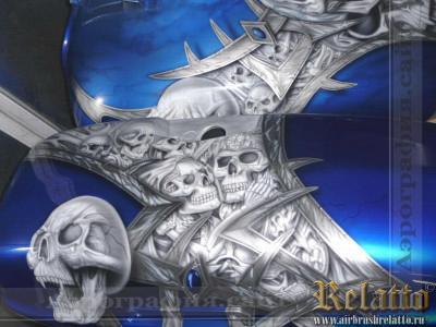 Yamaha Roalstar с черепами Relatto