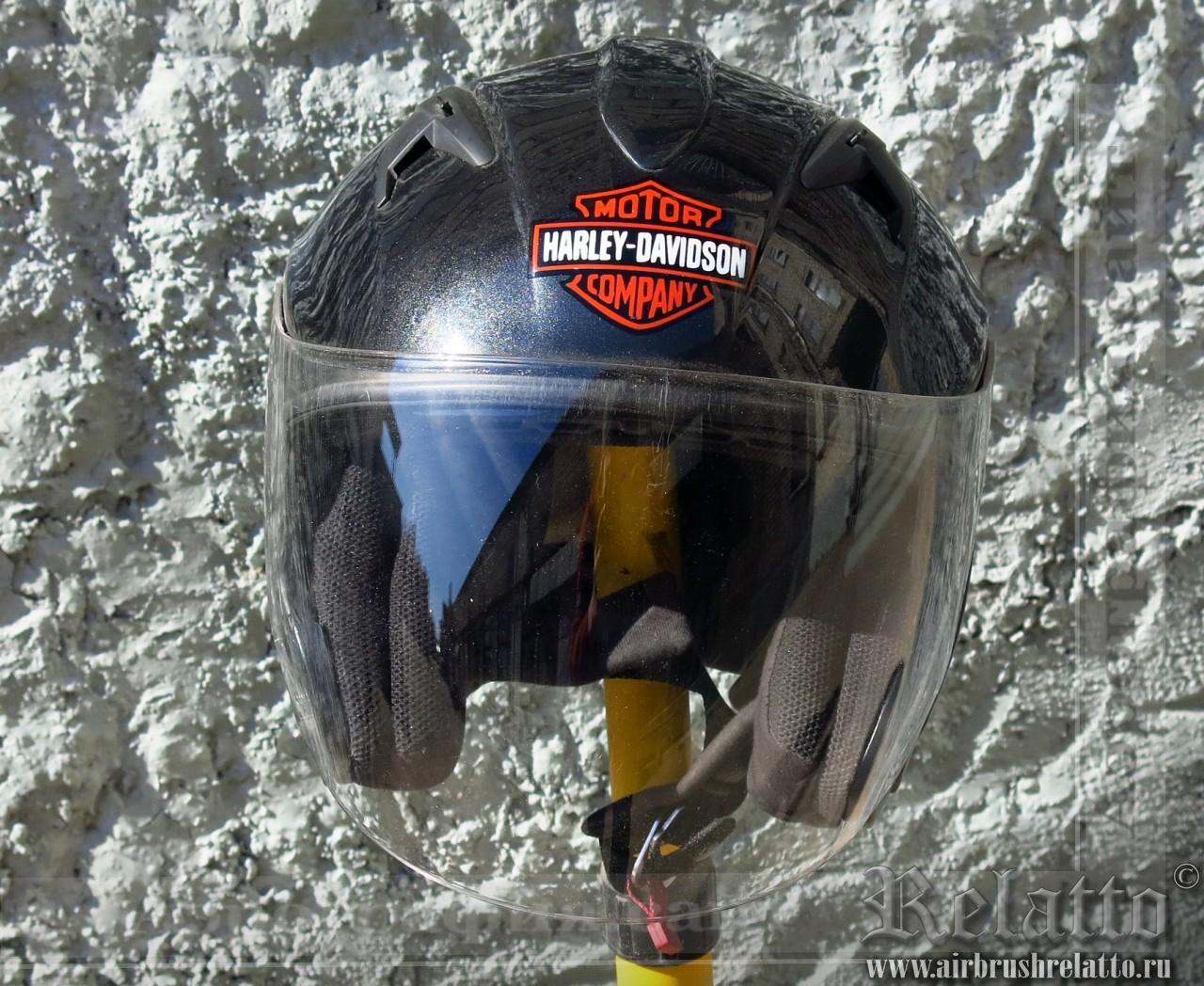 аэрография шлема - Харлей Дэвидсон