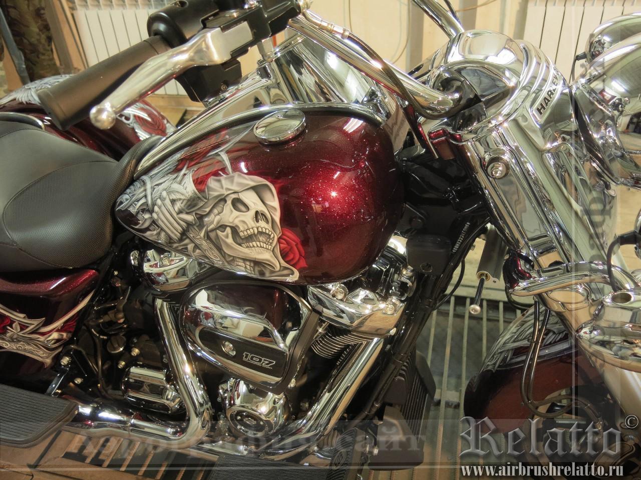 Аэрография Trike Harley