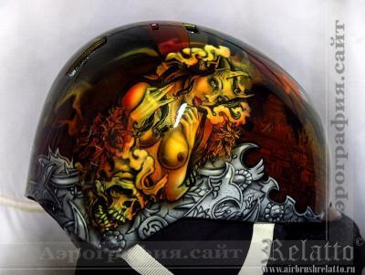Аэрография шлема для сноуборда Relatto