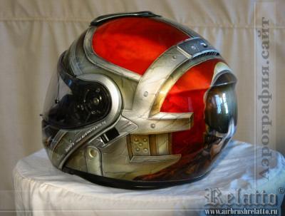 Аэрография шлема SHOEI - пилот Relatto