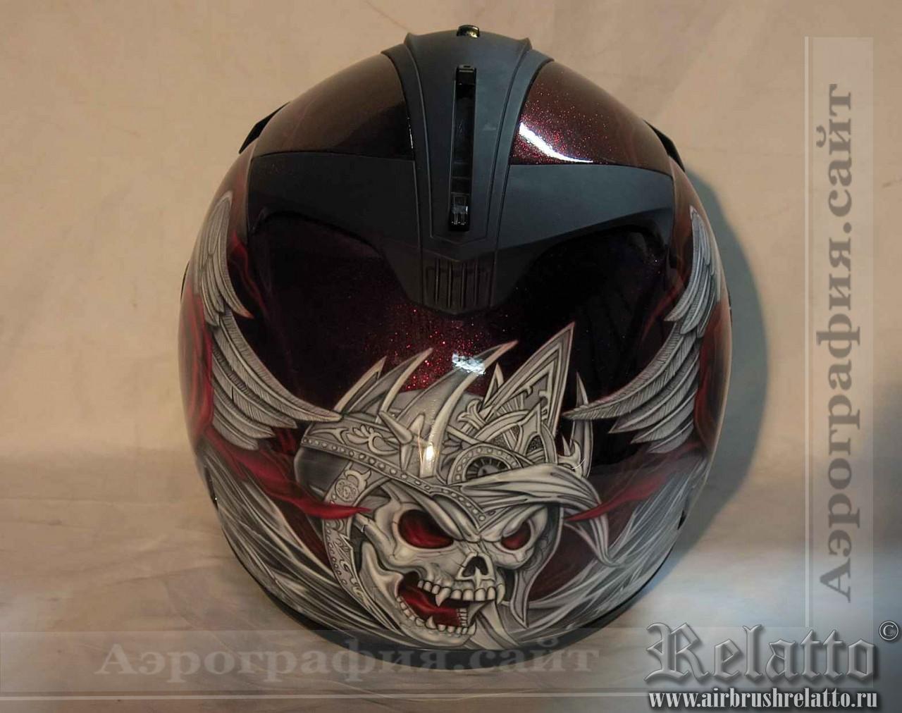 аэрография на шлем Harley