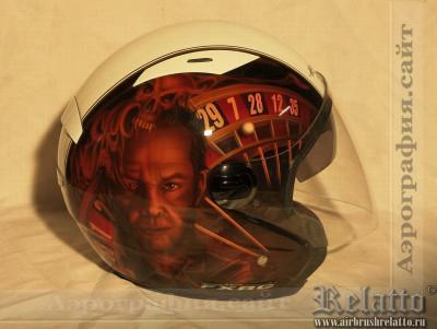 аэрография на шлеме Harley Davidson Relatto