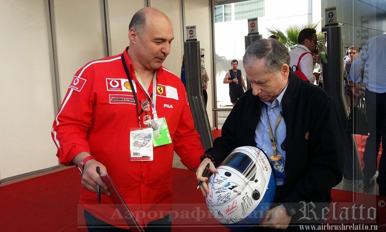роспись автошлема Formula 1