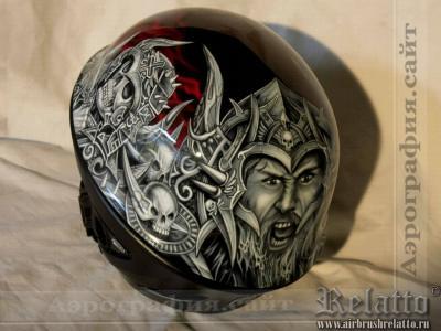 аэрография шлемов Краснодар