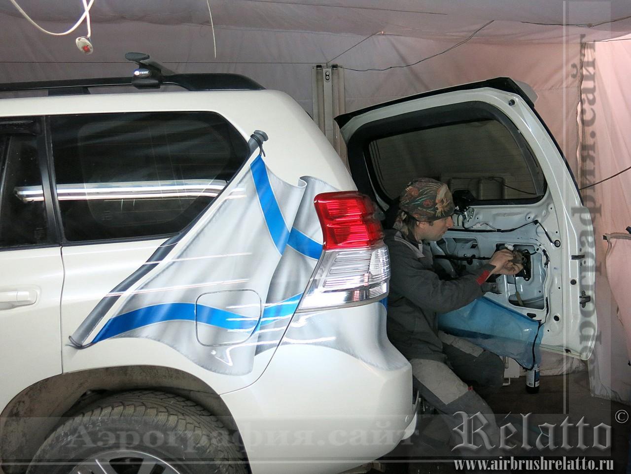 сборка автомобиля после нанесения рисунка