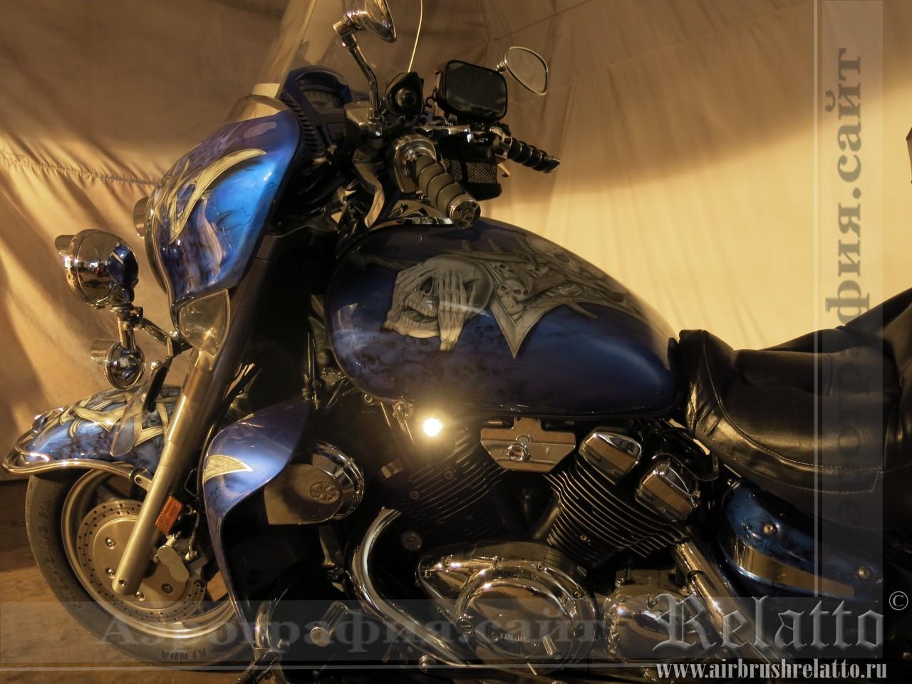 Черепа на мотоцикле Yamaha Venture
