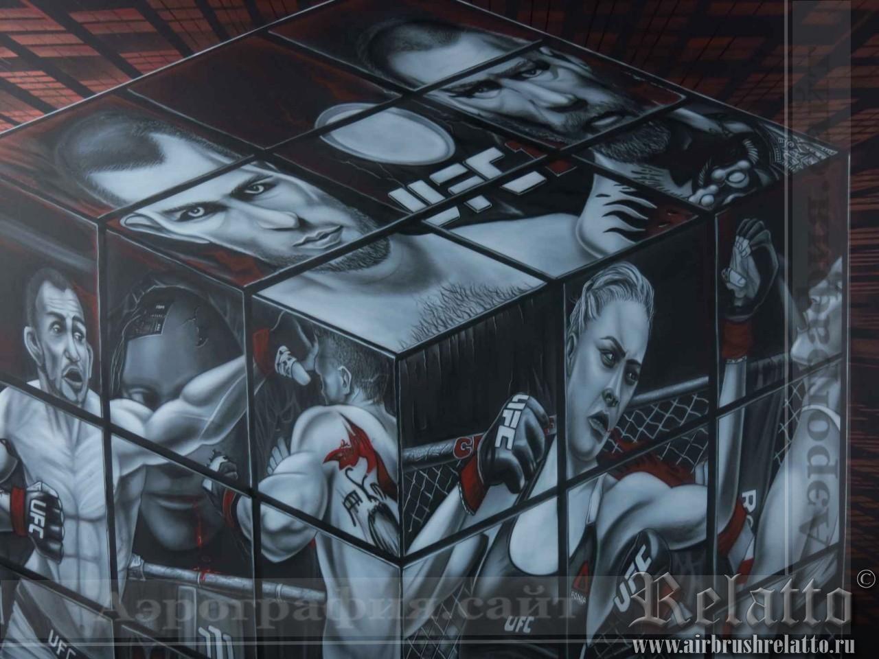 роспись стен кафе